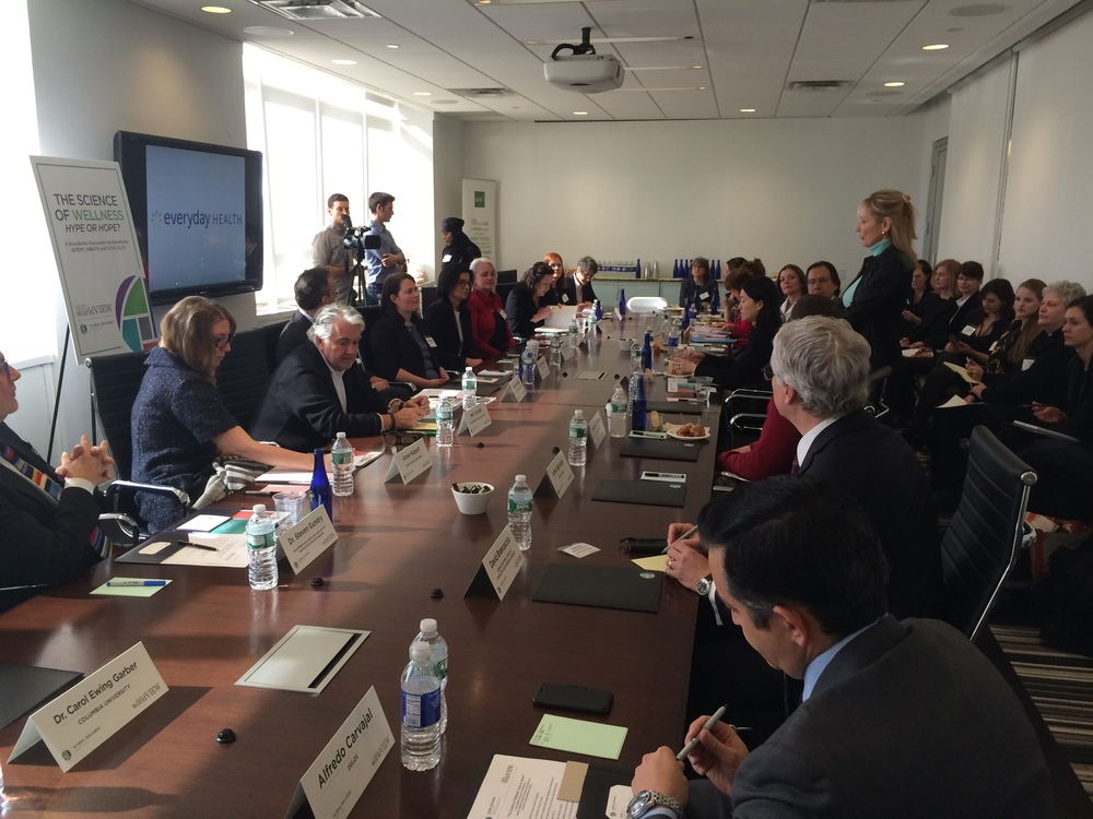 Global Wellness Institute and Scientific American Worldview roundtable